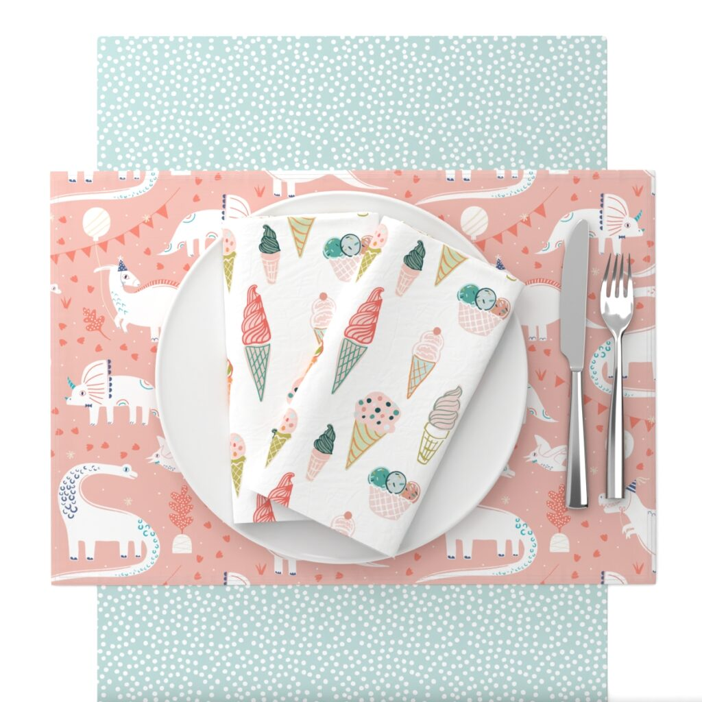 Birthday Party Table Setting | Spoonflower Blog