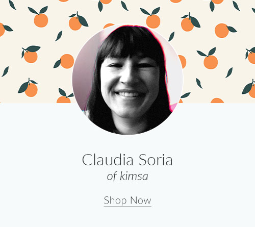 September Designer Spotlight: Meet Claudia Soria of kimsa | Spoonflower Blog
