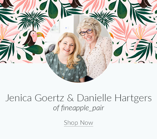September Designer Spotlight: Meet Jenica Goertz & Danielle Hartgers of fineapple_pair | Spoonflower Blog