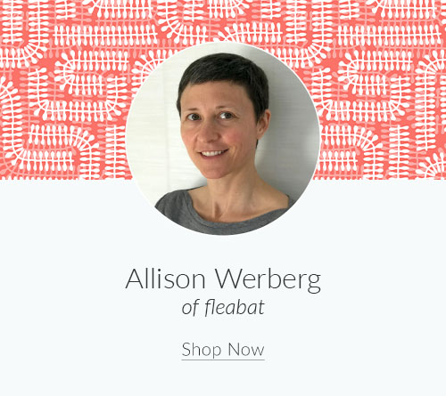 September Designer Spotlight: Meet Allison Werberg of fleabat | Spoonflower Blog
