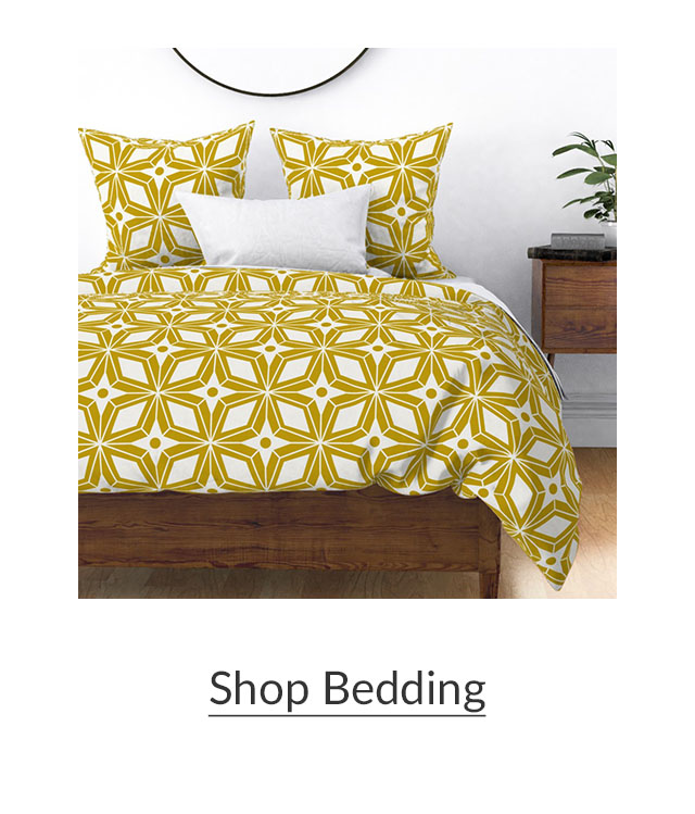 Made for Good | Yellow Geometric bedding | Spoonflower Blog