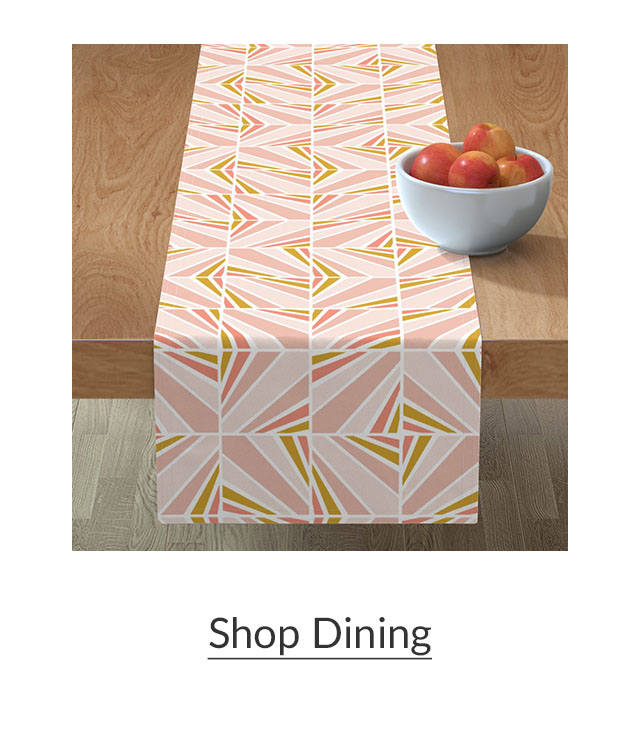 Made for Good Pink and Yellow geometric table runner | Spoonflower Blog