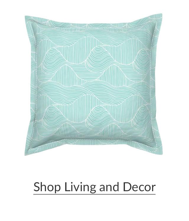 Made for Good Aqua Dunes Pillow | Spoonflower Blog