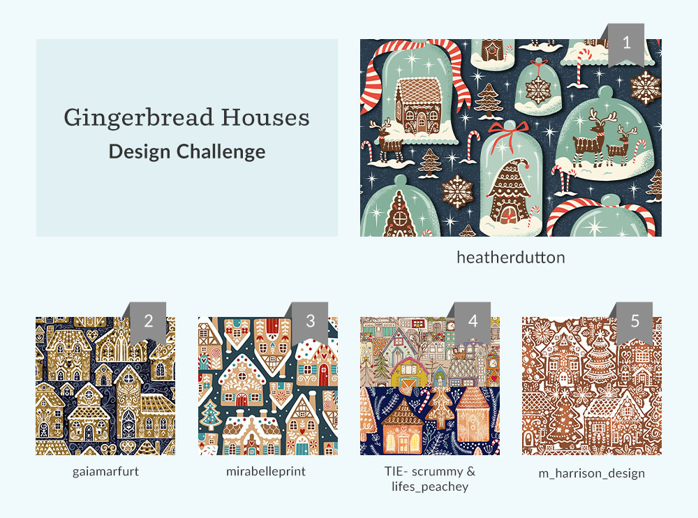 See Where You Ranked in the Gingerbread Houses Design Challenge | Spoonflower Blog