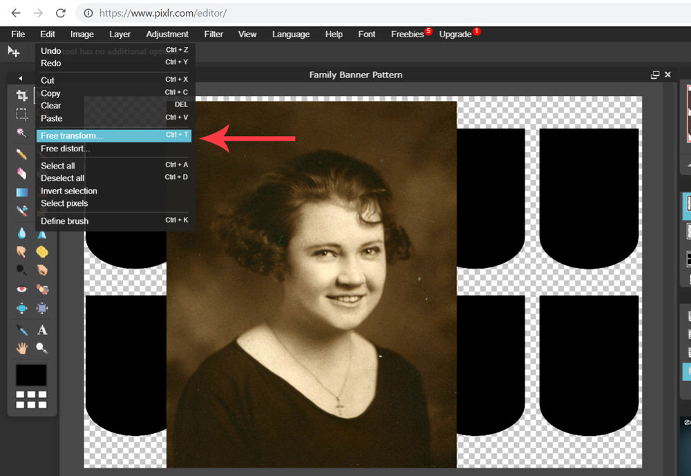 Adjust the size of the vintage family photo | Spoonflower Blog