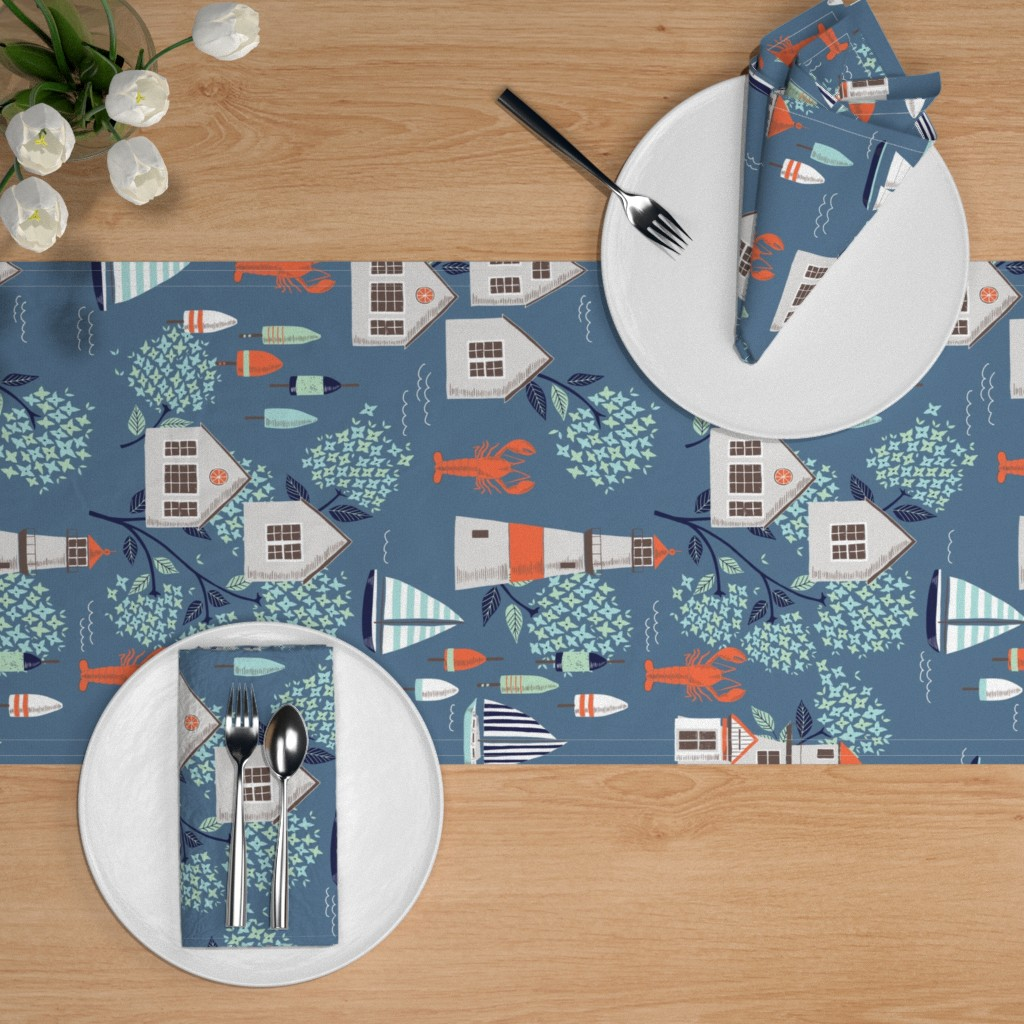 Seafood Soiree Table Setting | Spoonflower Blog