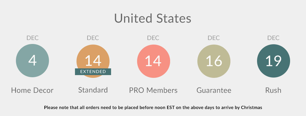 2019 Holiday Shipping Deadlines: United States | Spoonflower Blog