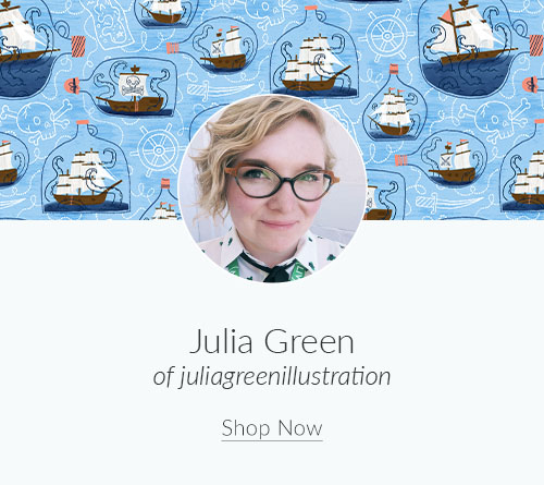 September Designer Spotlight: Meet Julia Green of juliagreenillustration | Spoonflower Blog