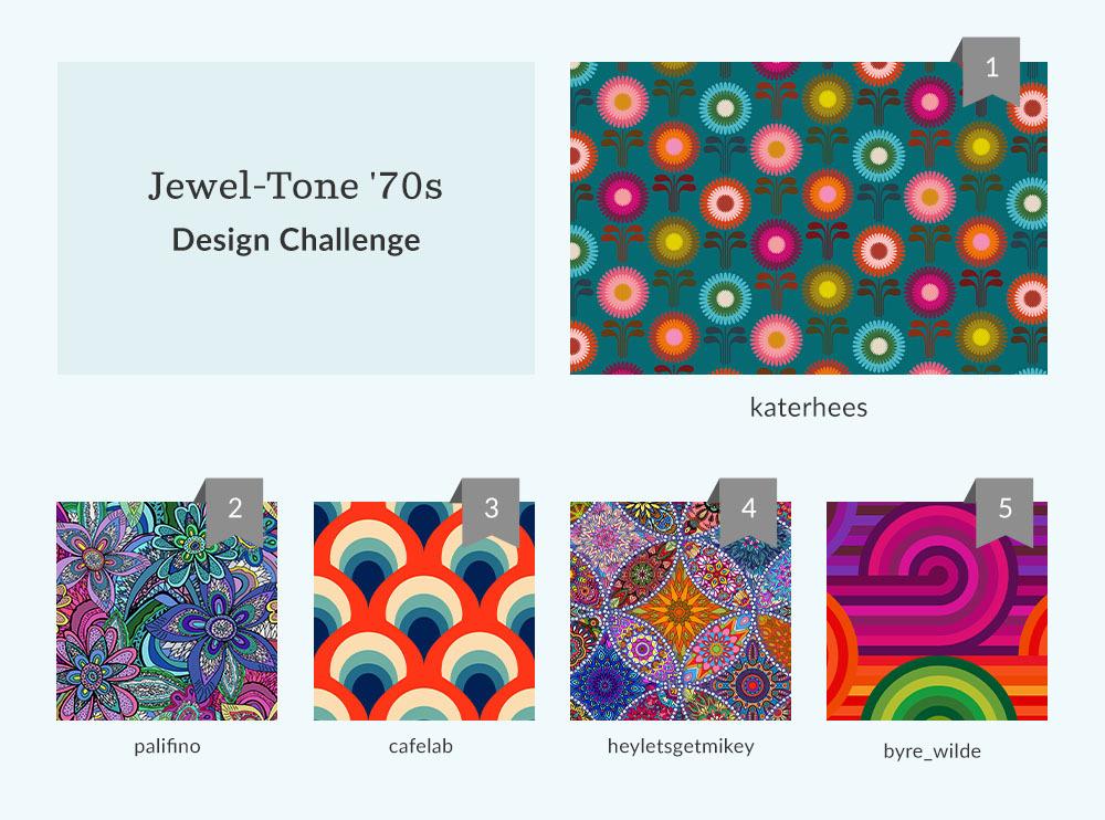 Shop the top 50 Jewel-Tone '70s Design Challenge Winners | Spoonflower Blog