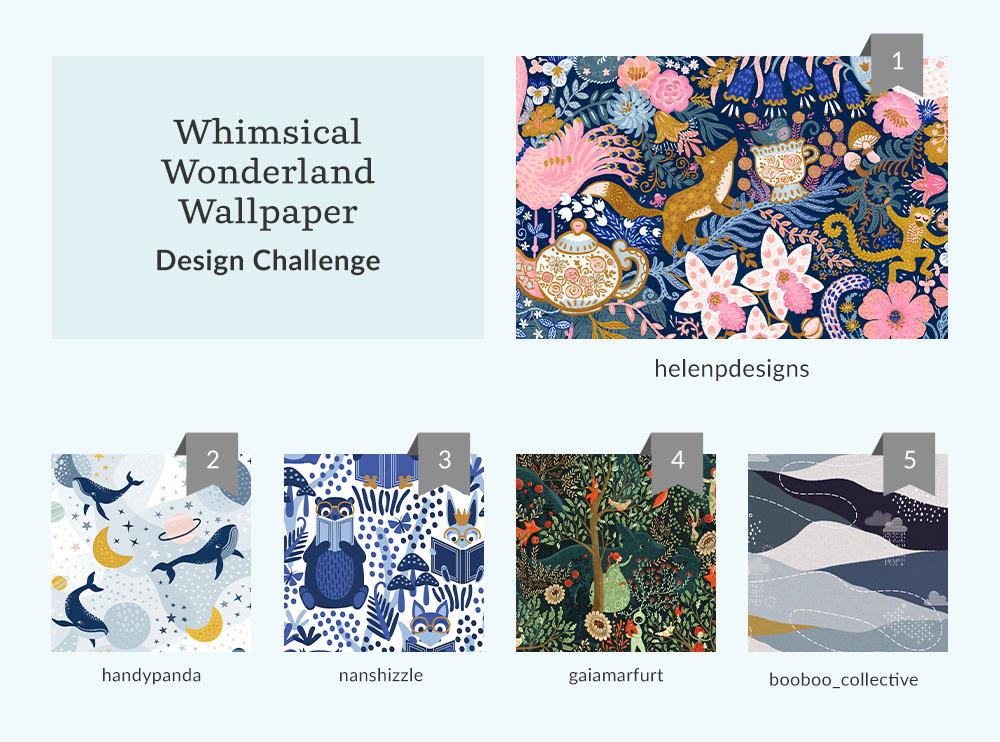 Whimsical Wonderland Wallpaper Design Challenge | Spoonflower Blog