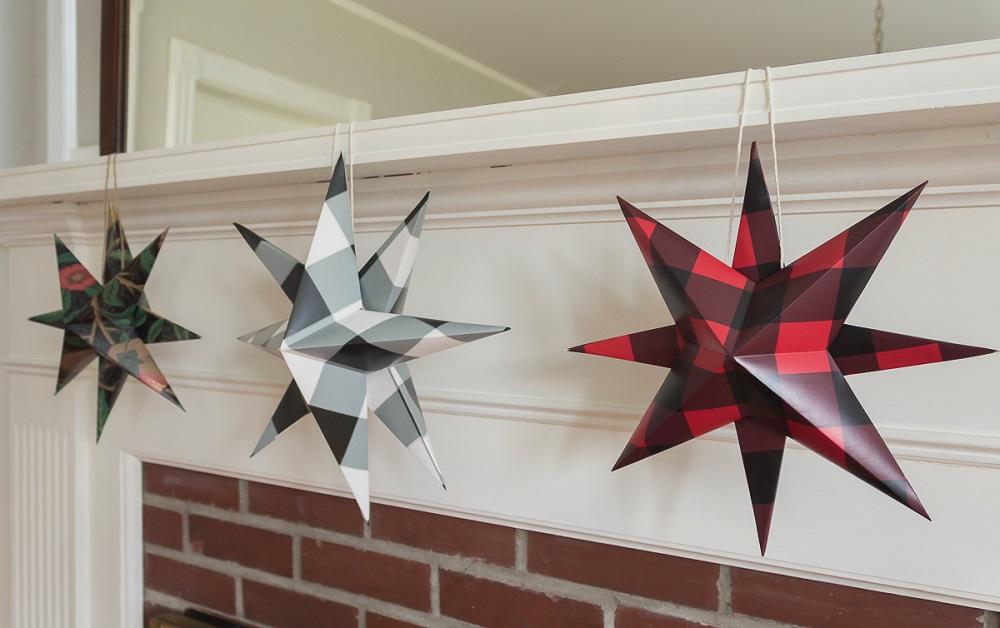 Three hanging danish stars | Spoonflower Blog