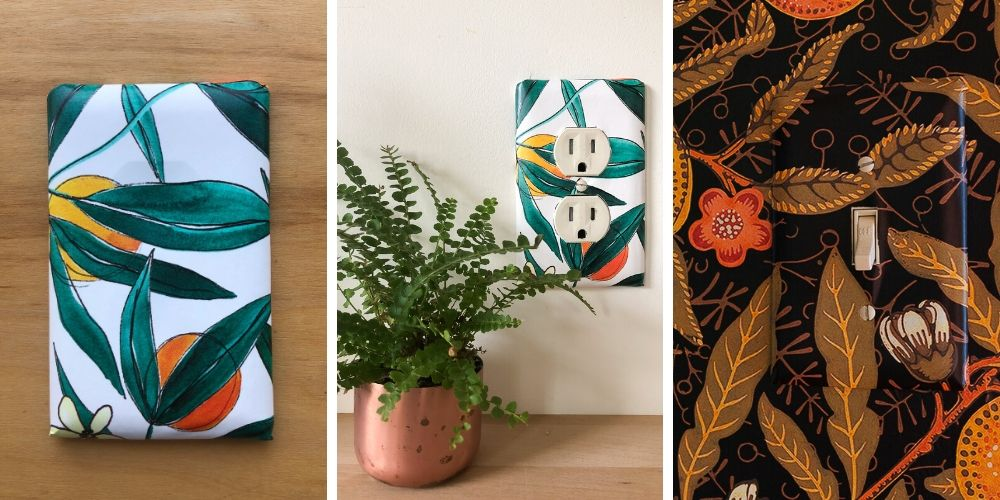 DIY outlet and switch covers | Spoonflower Blog