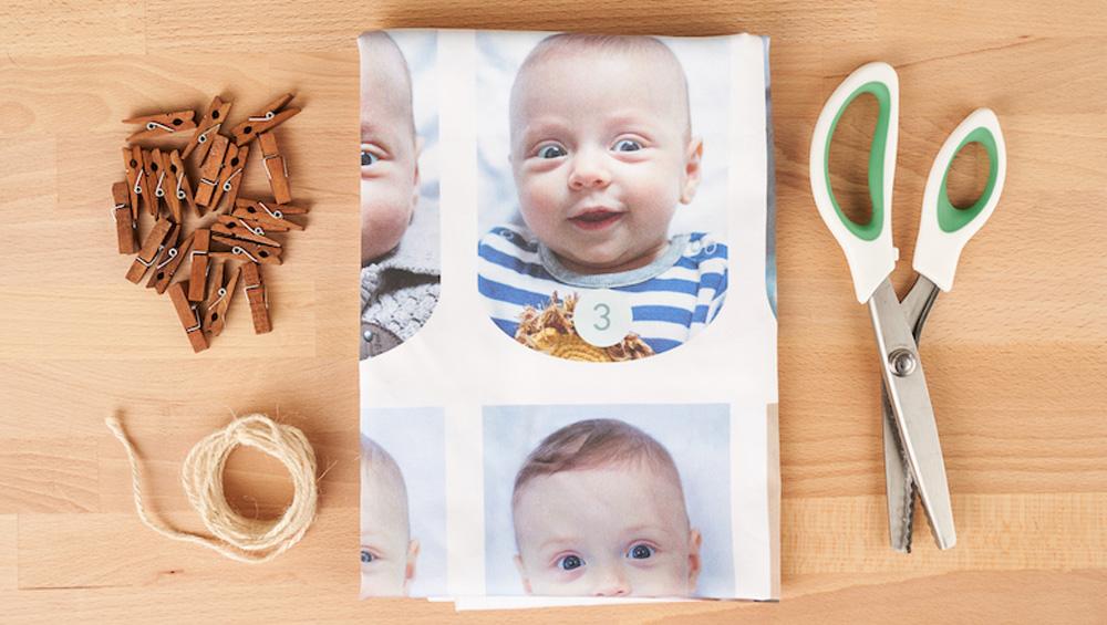DIY First Birthday Photo Garland: materials | Spoonflower Blog