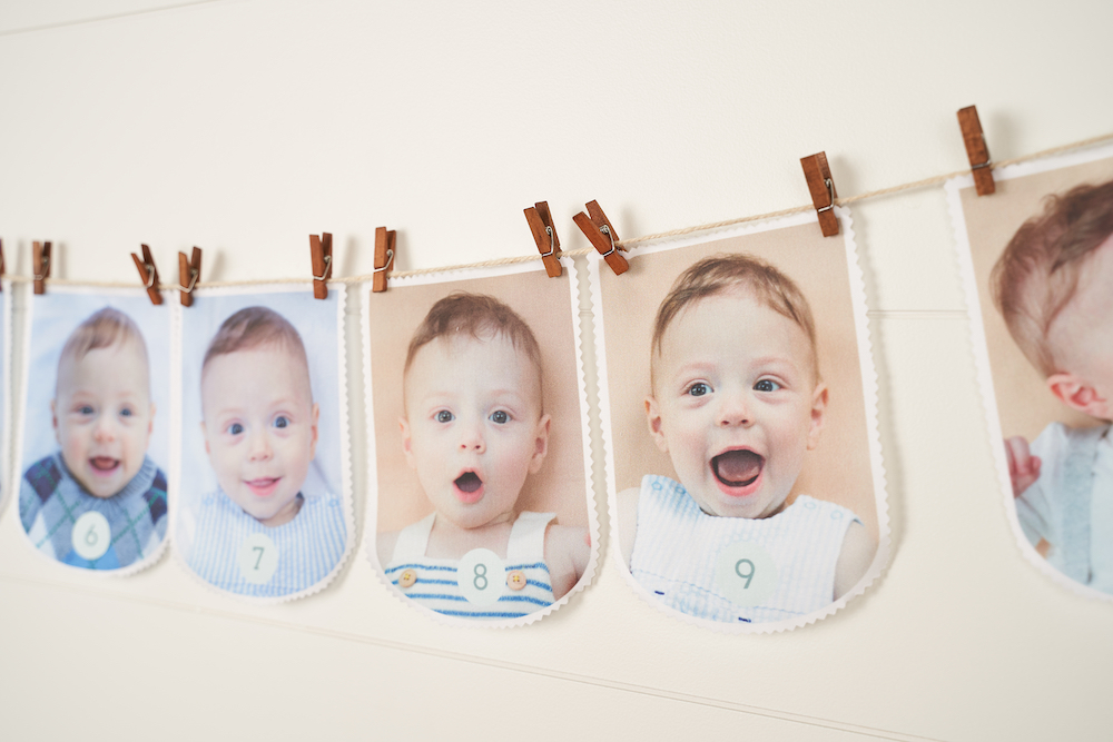 DIY First Birthday Photo Garland | Spoonflower Blog