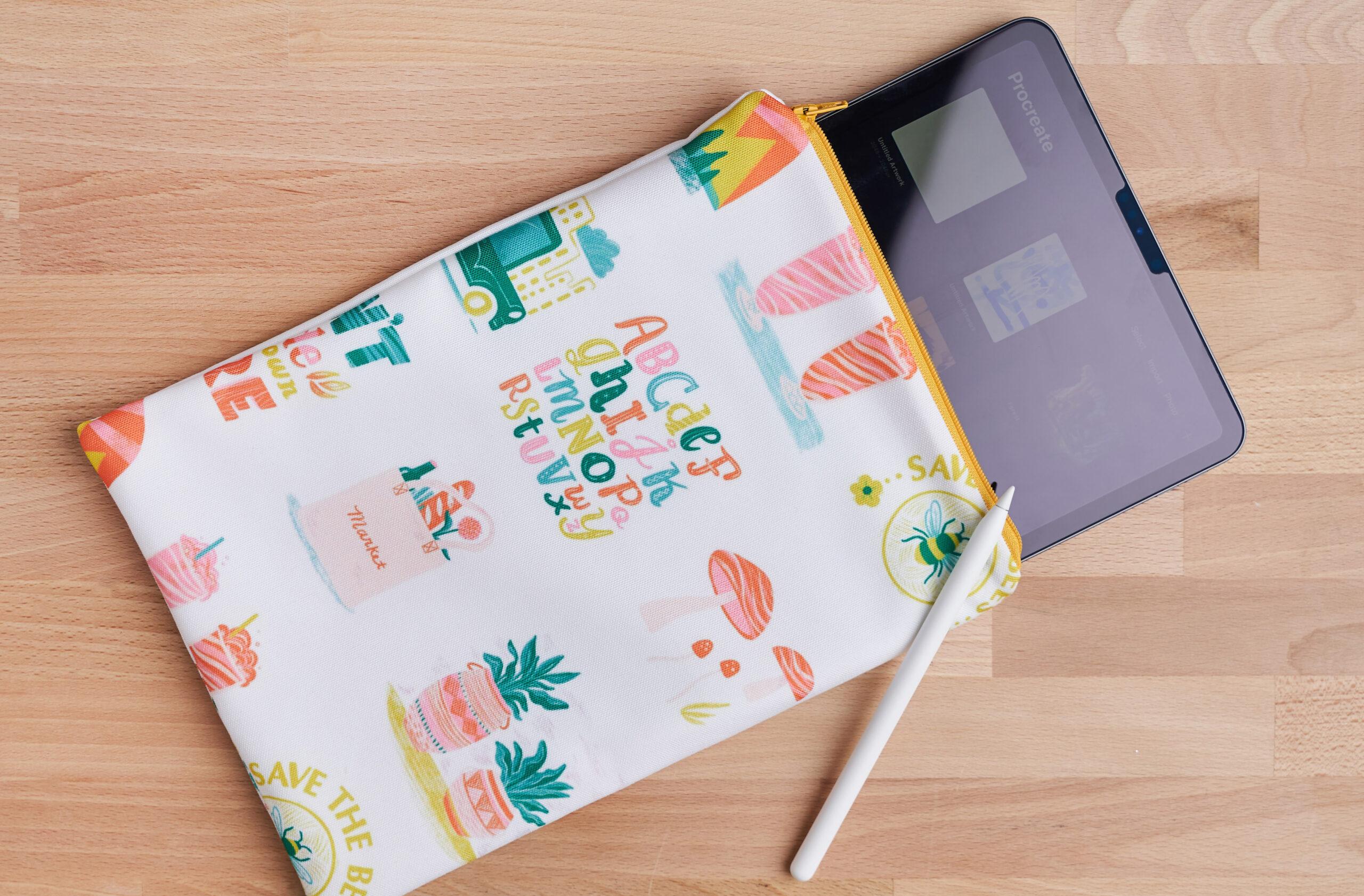 iPad-Tasche mit Reißverschluss aus deinem eigenen Stoffdesign nähen