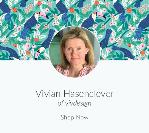 September Designer Spotlight: Meet Vivian Hasenclever of vivdesign | Spoonflower Blog