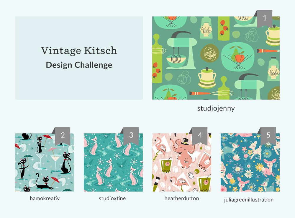 Vintage Kitsch Design Challenge | Spoonflower Blog