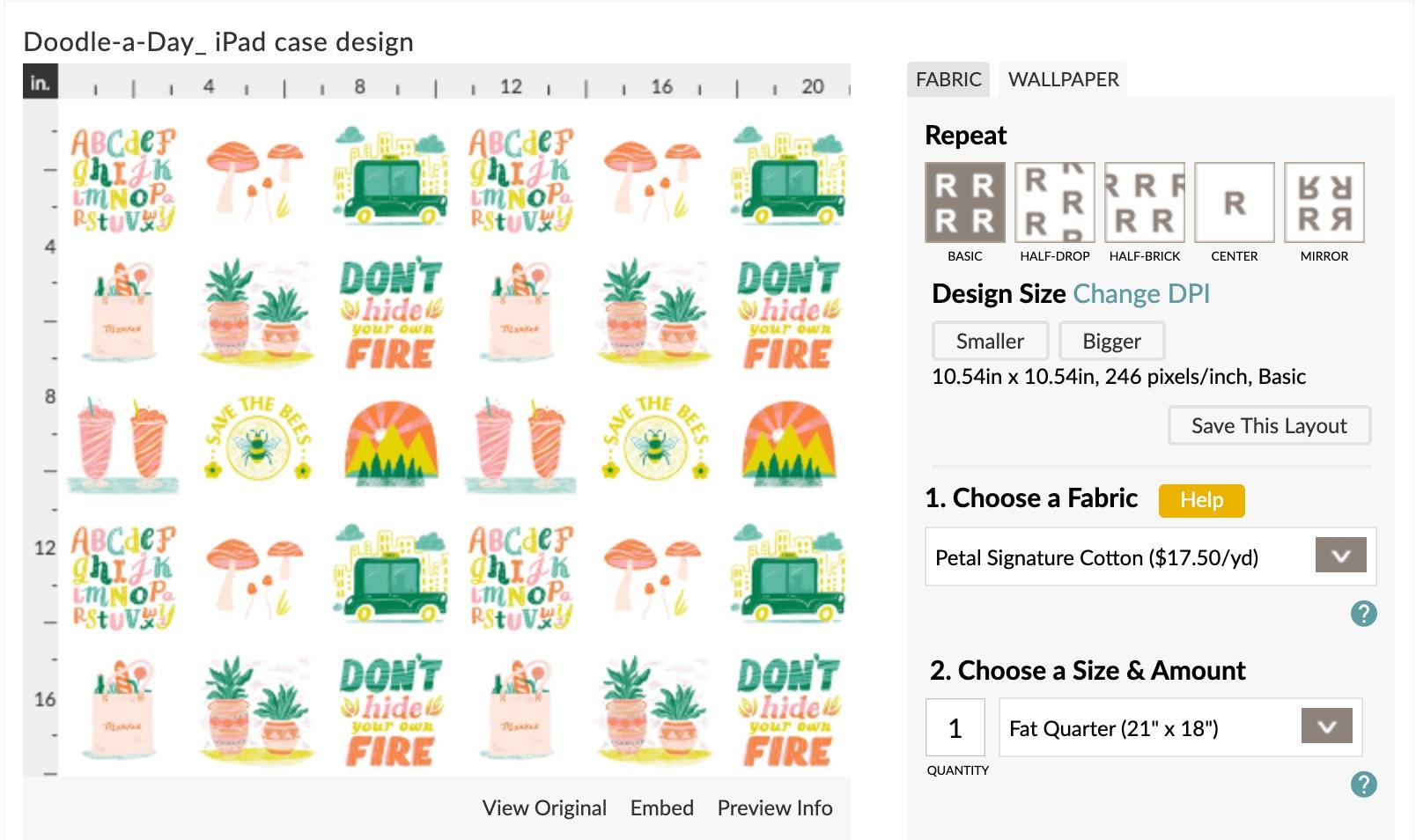 Lade dein Design auf Spoonflower hoch