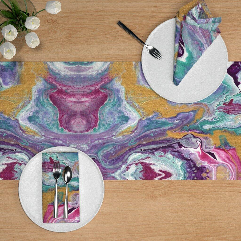 Pimpe deinen Esstisch mit einem Tischset in Batik-Optik auf