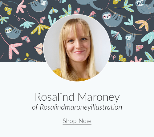 February Designer Spotlight: Meet Rosalind Maroney of rosalindmaroneyillustration | Spoonflower Blog