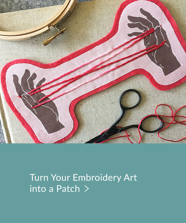 Turn your embroidery art into a patch | Spoonflower Blog