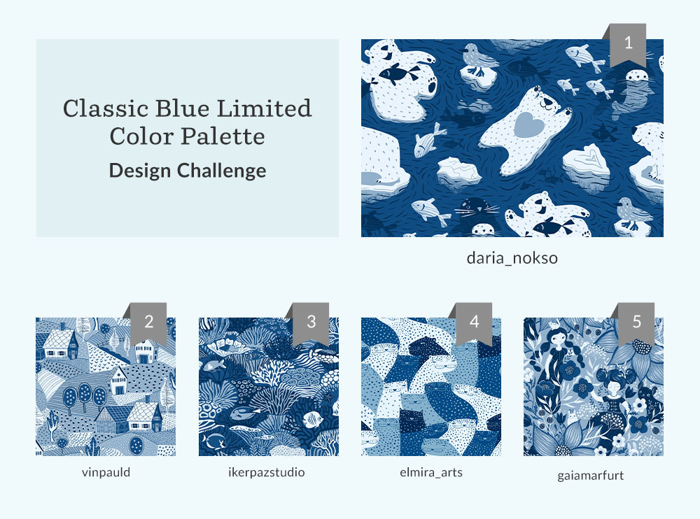 Classic Blue Limited Color Palette Design Challenge | Spoonflower Blog