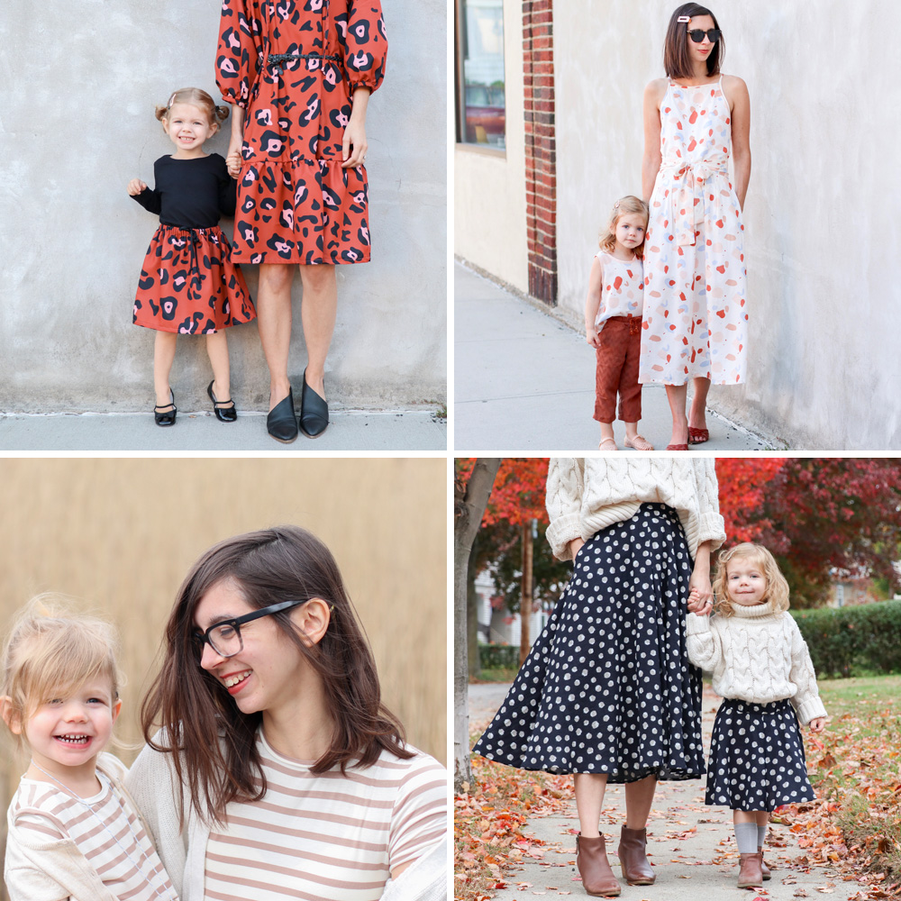 Mommy-and-me handmade wardrobe with Holly Dolly Darling | Spoonflower Blog