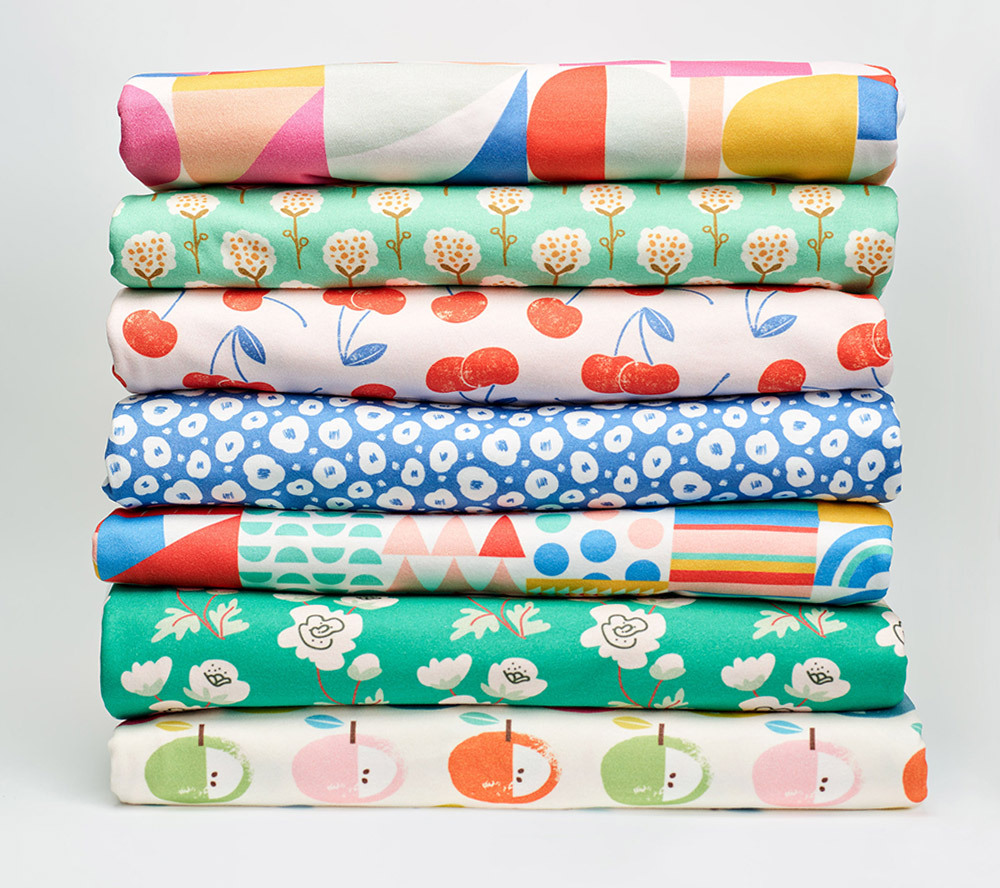 From rainbow snails to marvelously mod designs, these collections will get you started on your art smock masterpiece.  | Spoonflower Blog