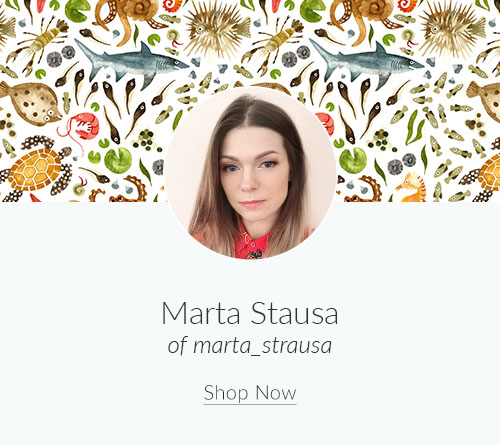 March Designer Spotlight: Meet Marta Strausa of marta_strausa | Spoonflower Blog