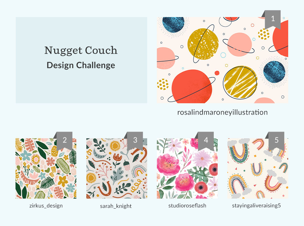 See Where You Ranked in the Nugget Couch Design Challenge | Spoonflower Blog