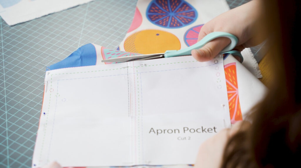 Cut out the smock pattern pieces | Spoonflower Blog