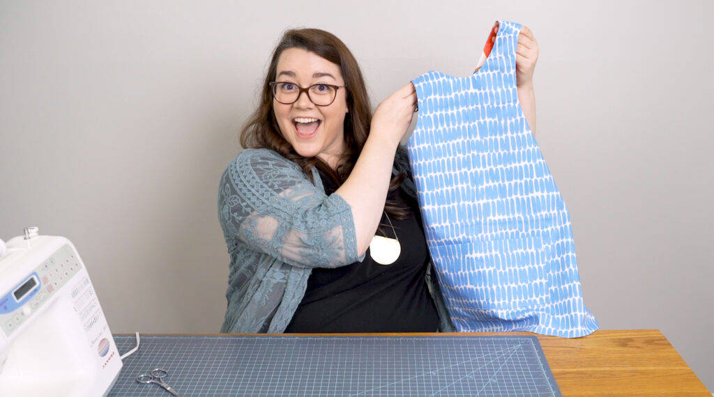 Reversible art smock | Spoonflower Blog