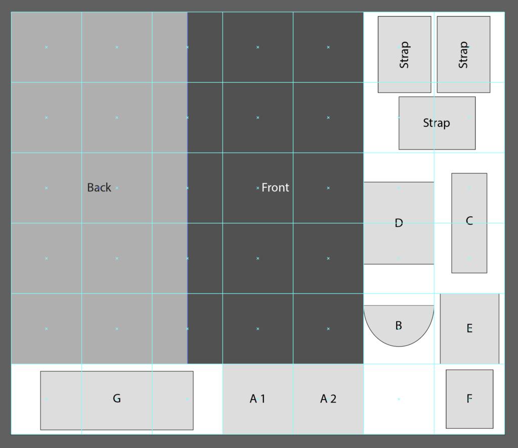 DIY Craft Organizer pocket layout for Fill-A-Yard   Spoonflower Blog