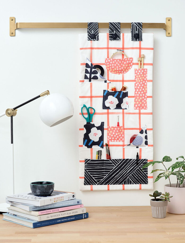 This DIY Craft Organizer Doubles as Wall Art | Spoonflower Blog