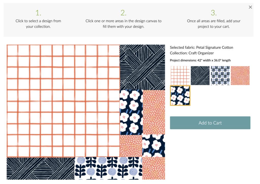 Fülle die Vorlage mit Designs