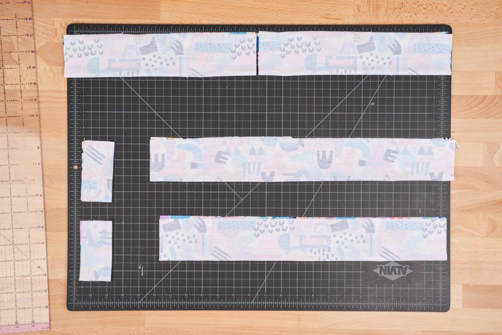 Haarband mit Schleife - zugeschnittene Materialien
