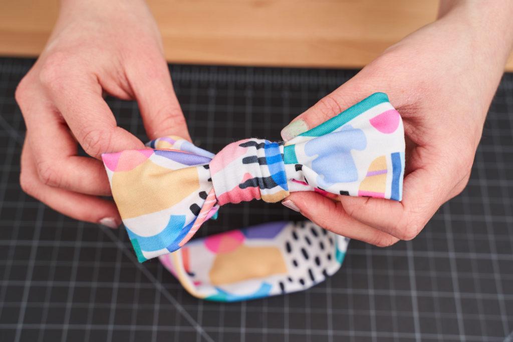 DIY top knot headband bow | Spoonflower Blog