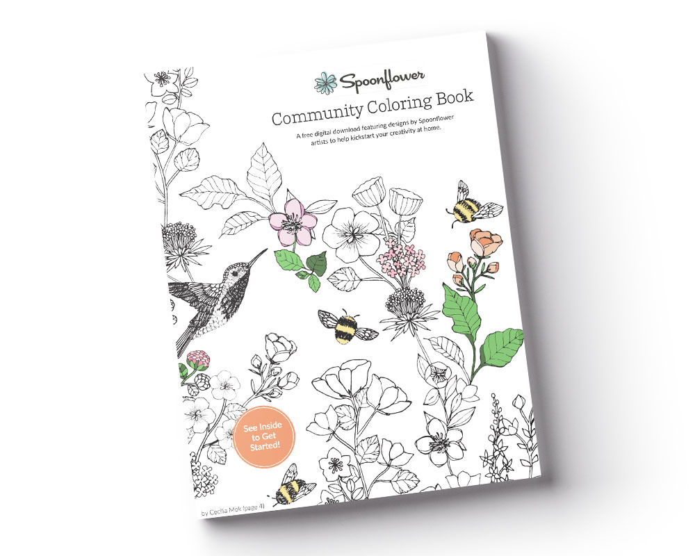 Download Your Free Copy of The Spoonflower Community Coloring Book | Spoonflower Blog