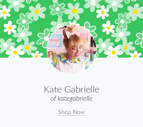 April Artist Spotlight: Meet Kate Gabrielle of kategabrielle | Spoonflower Blog