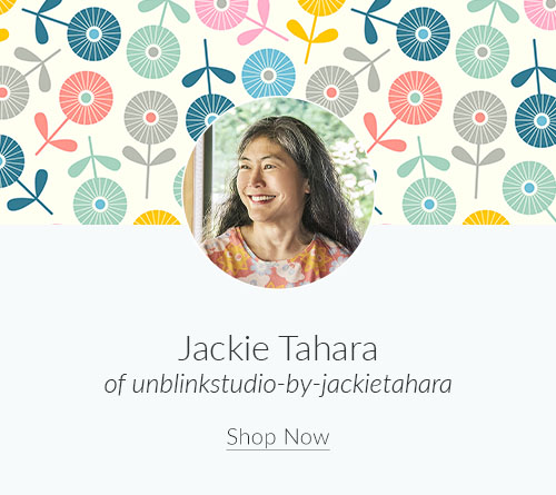 April Artist Spotlight: Meet Jackie Tahara of unblinkstudio-by-jackietahara | Spoonflower Blog