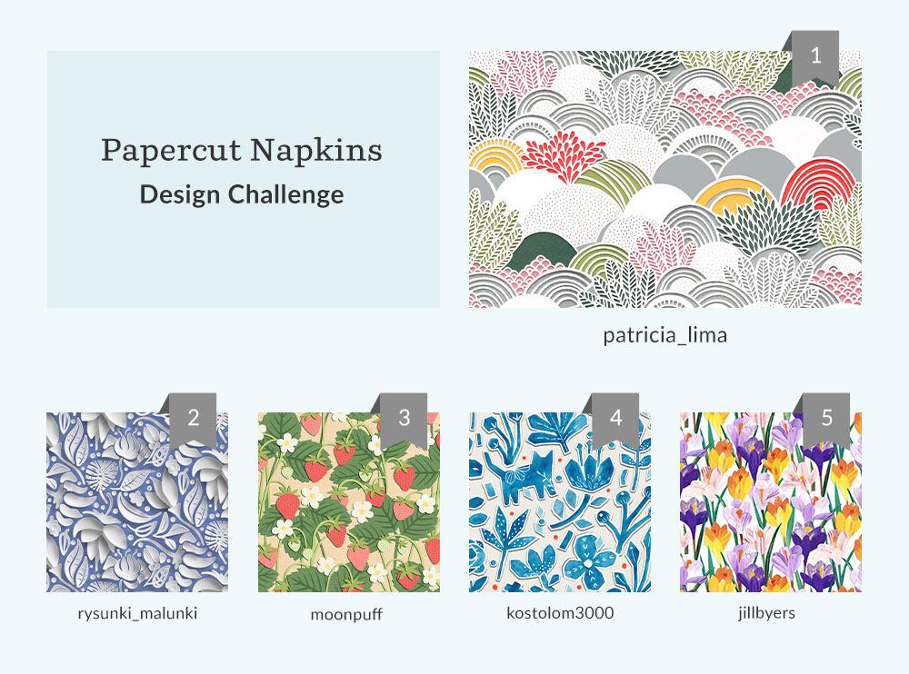 Papercut Napkins Design Challenge winners | Spoonflower Blog