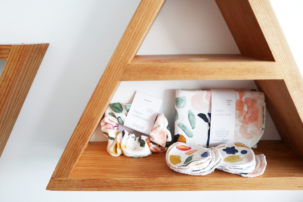 100% Organic Cotton Scrunchies, Face Cloths and Reusable Cotton Rounds from Freon Collective | Spoonflower Blog