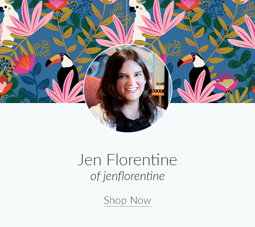 May Artist Spotlight: Meet Jen Florentine of jenflorentine | Spoonflower Blog
