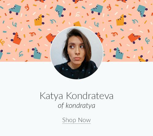 May Artist Spotlight: Meet Katya Kondrateva of kondratya | Spoonflower Blog