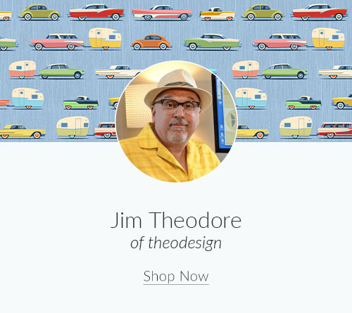 May Artist Spotlight: Meet Jim Theodore of theodesign | Spoonflower Blog