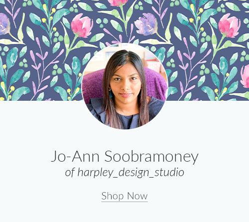 May Artist Spotlight: Meet Jo-Ann Soobramoney of harpley_design_studio | Spoonflower Blog