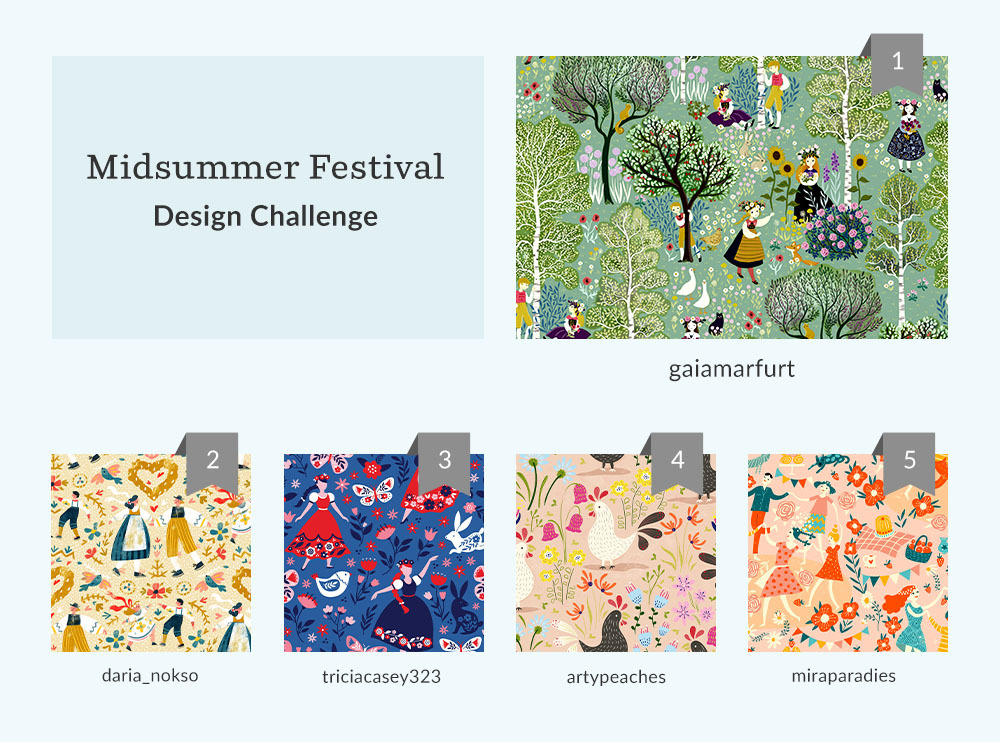 See Where You Ranked in the Midsummer Festival Design Challenge | Spoonflower Blog