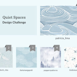 See Where You Ranked in the Quiet Spaces Wallpaper Design Challenge | Spoonflower Blog