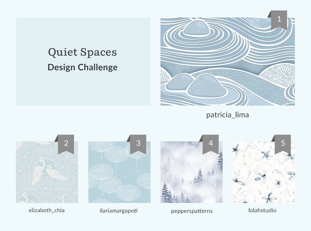 See Where You Ranked in the Quiet SpacesWallpaper Design Challenge | Spoonflower Blog