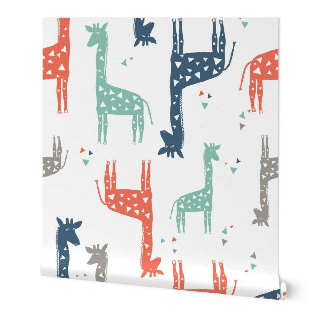 The Honest Company® Multi-Colored Giraffe Print Wallpaper | Spoonflower Blog